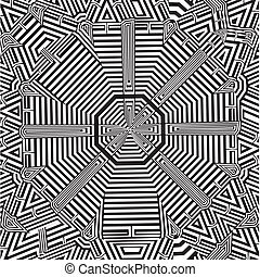 Maze Labyrinth Octagon Vector