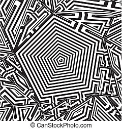 Maze Labyrinth Pentagon Vector