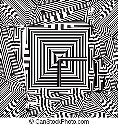 Maze Labyrinth Tetragon Vector