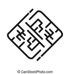 maze labyrinth vector illustration design