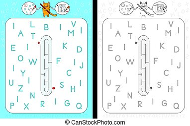 Maze letter I - Worksheet for learning alphabet - ...