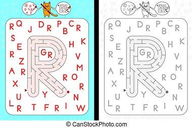 Maze letter R