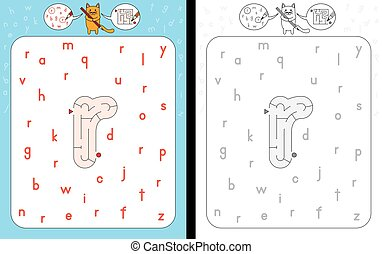 Maze letter r - Worksheet for learning alphabet -...