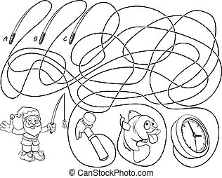 Maze Lines Childrens Game