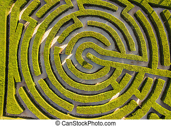 Maze of bushes in botanical park - Ayia Napa Cyprus - nature...