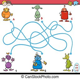 maze path activity for kids