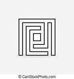 Maze simple icon
