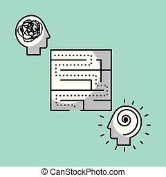 maze solution concept image