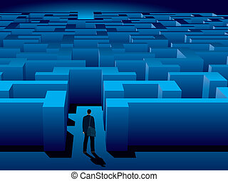 Maze of problems and choices to reach a success