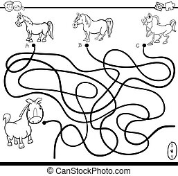 maze task coloring page