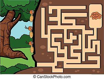 maze termite quiz ant