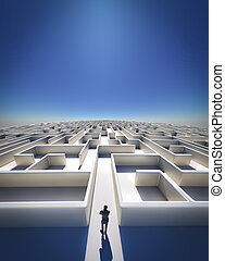 Maze to Infinity - High Resolution 3d art showing a maze as ...