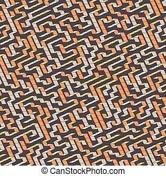 maze., vektor, abbildung, von, labyrinth.