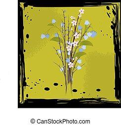 mazzolino, astratto, fiori