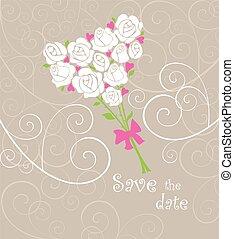 mazzolino, cartolina auguri, matrimonio