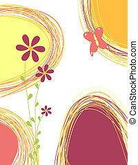 mazzolino, farfalla, fiori
