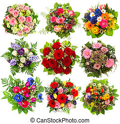 mazzolino, fiori bianchi, nove, colorito