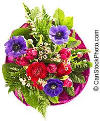 mazzolino, fiori, colorito