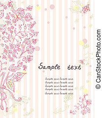 mazzolino, fiori, disegno, romantico