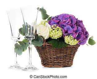 mazzolino, fiori freschi