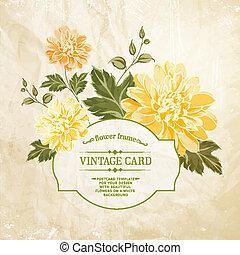 mazzolino, fiori primaverili, card., vendemmia