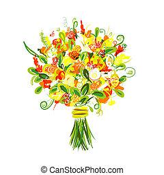 mazzolino floreale, disegno, tuo