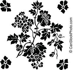 mazzolino floreale, vettore