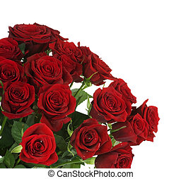 mazzolino, grande, rose rosse