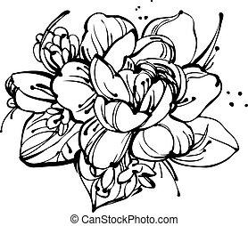 mazzolino, rose, piccolo, bucanevi