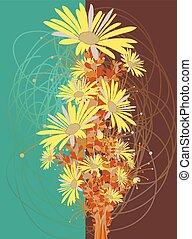 mazzolino, vendemmia, fiori, giallo