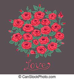 mazzolino, vendemmia, roses., scheda