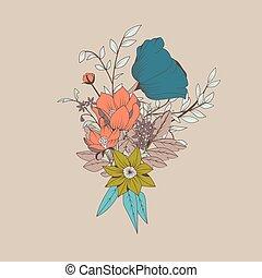 mazzolino, vettore, botanico, fiore
