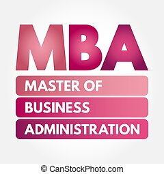 MBA - Master of Business Administration acronym