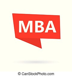 MBA (Master of Business Administration) acronym on a...
