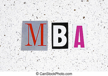 MBA (Master of Business Administration) acronym