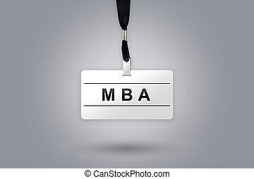 MBA or Master of Business Administration on badge