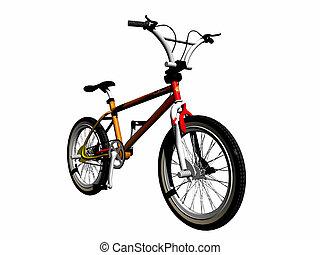 mbx, bicicleta, encima, white.