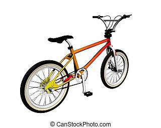 Mbx bicycle over white. - Mbx bicycle over white, 3d render...