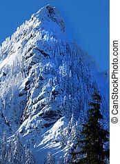 McClellan Butte Snow Mountain Peak, Snoqualme Pass...