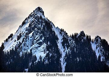 McClellan Butte Snow Mountain Peak Snoqualme Pass Washington...