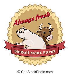 McCoil Meat Farm label - Always fresh