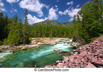 McDonald Creek Glacier National Park - McDonald Creek flows...
