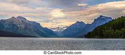 mcdonald, parque nacional del glaciar, lago