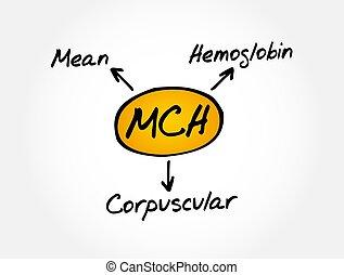 mch, -, akronym, medizin, hämoglobin, begriff, corpuscular, mittel