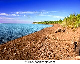 McLain State Park Michigan - Lake Superior landscape at...