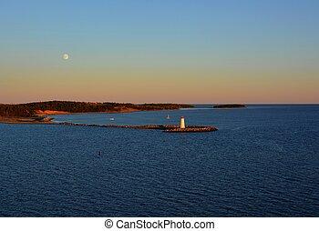 McNab Island Lighthouse, sunset