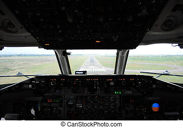 Interior landing  View from an interior balcony of the