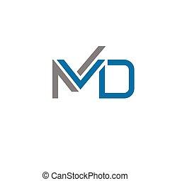 Md letter logo - creative letter MD logo concept, innovative...