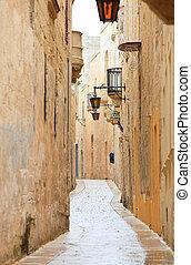 Mdina narrow street