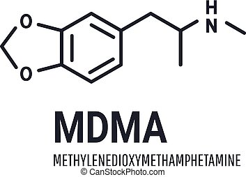 MDMA structural chemical formula on white background - MDMA ...